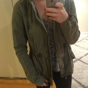 H&M Rain Jacket in Khaki Green
